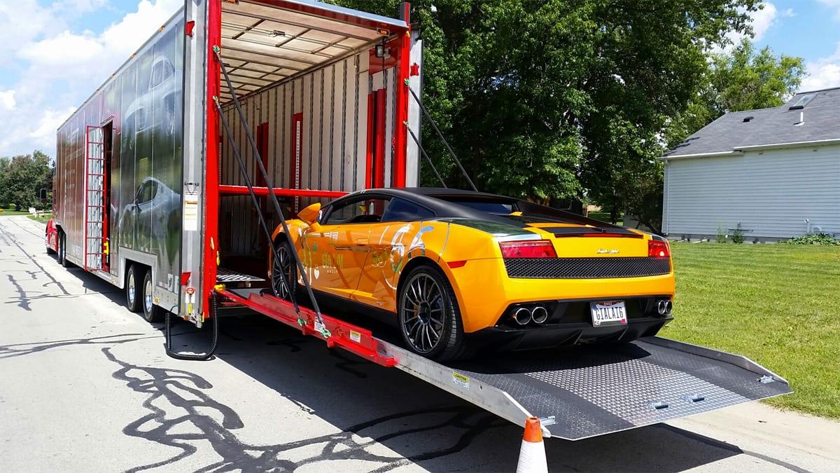 exotic car transport of Lamborghini