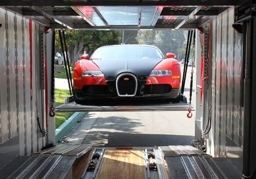 exotic car transport of a bugatti